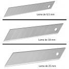 Paquet de 10 Lames de Cutter - 9 / 18 / 25 mm